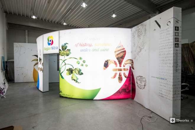 Atypický výstavní stánek 7x7m - Region Nitra